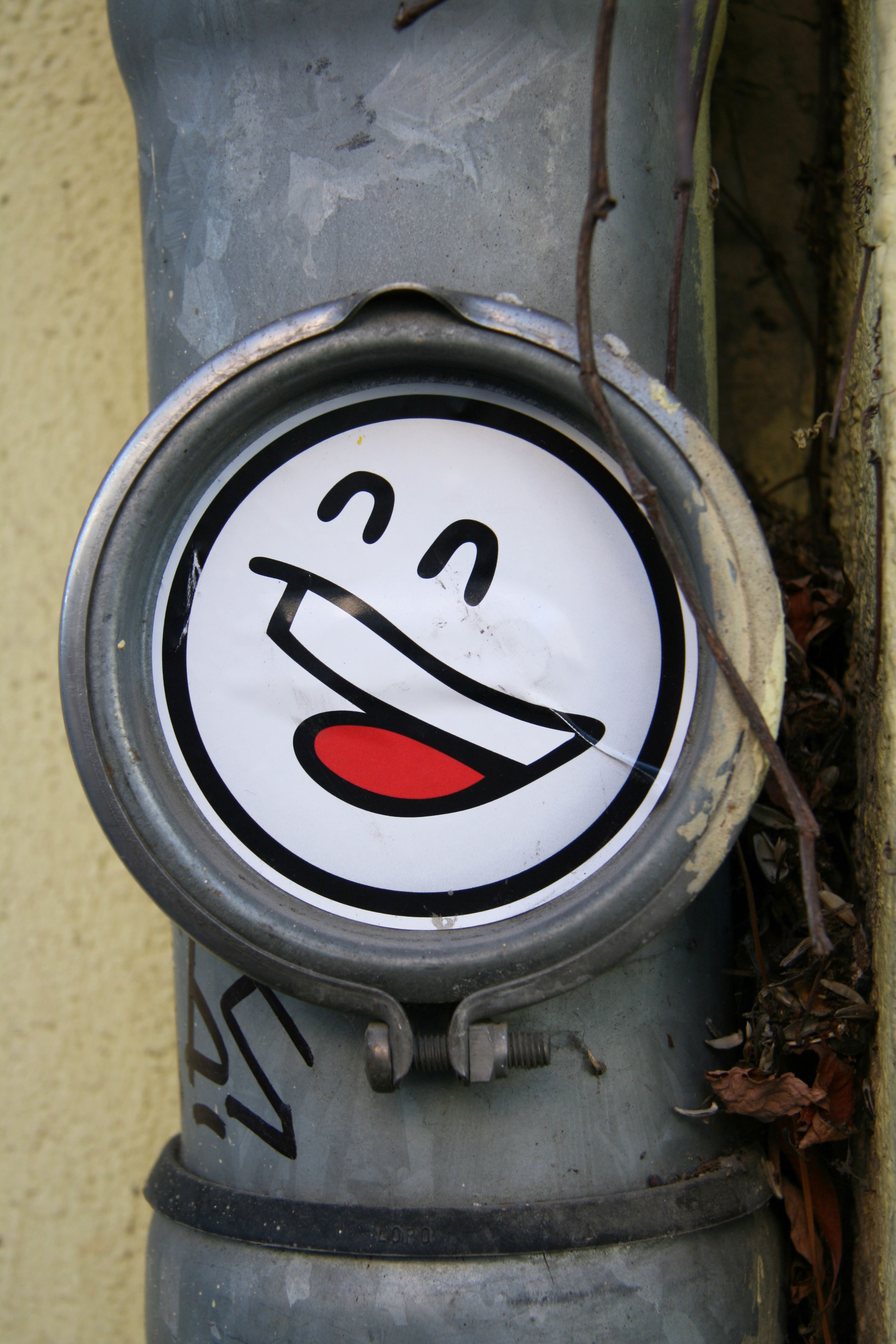 Smiley Sticker: Street Art by Mein Lieber Prost (often shortened to Prost) in Berlin