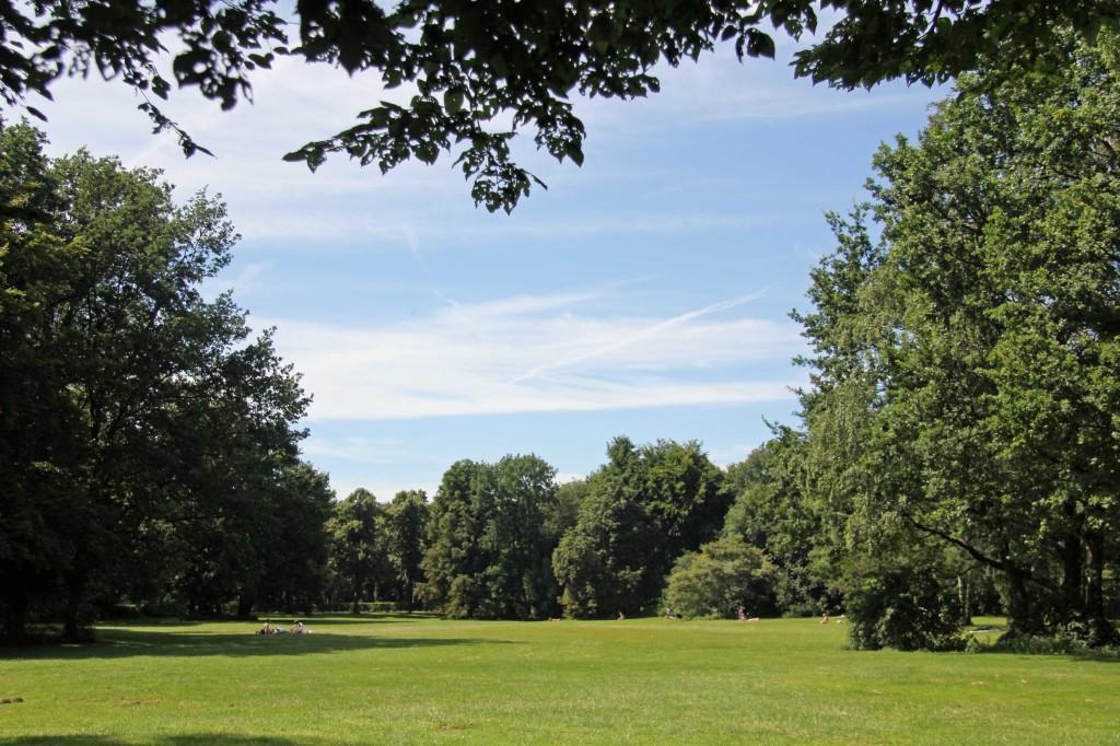 A relaxing spot in the Tiergarten in Berlin