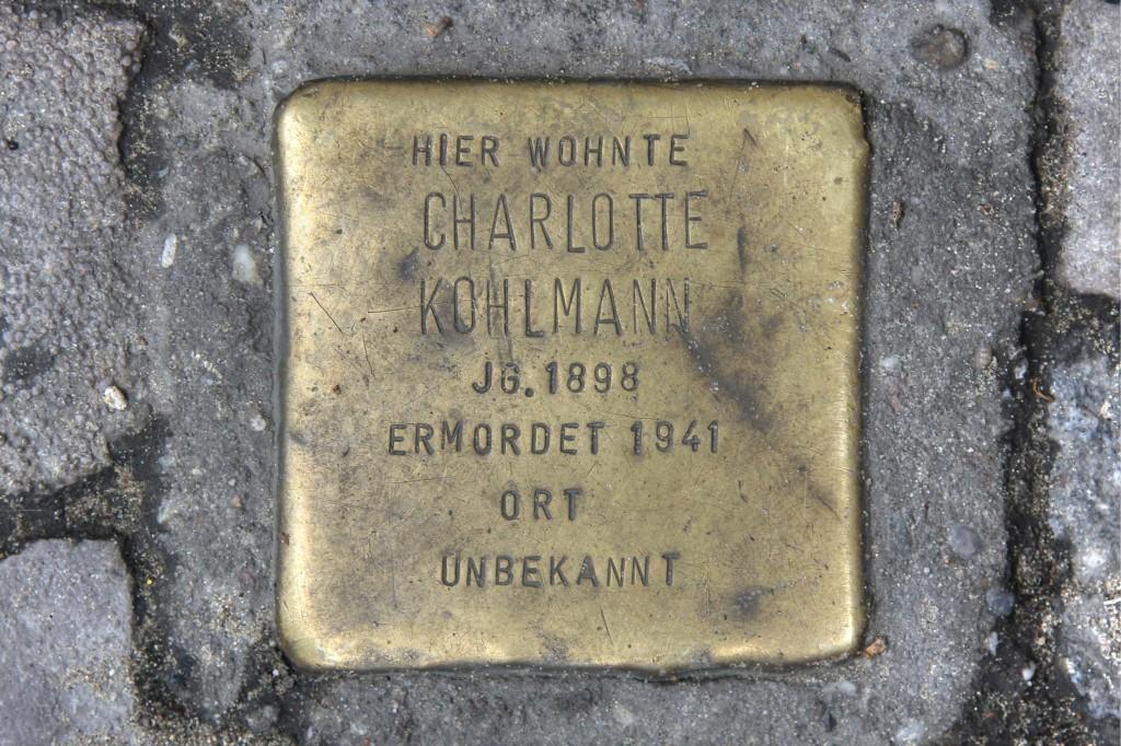 Stolpersteine 112: In memory of Charlotte Kohlmann (Skalitzer Strasse 81) in Berlin