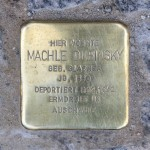 Stolpersteine 115: In memory of Machle Dubinsky (Rosenthaler Strasse 19) in Berlin