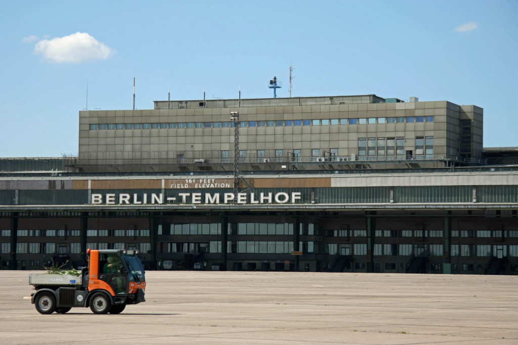 The Tempelhof Airport building in Berlin from the apron