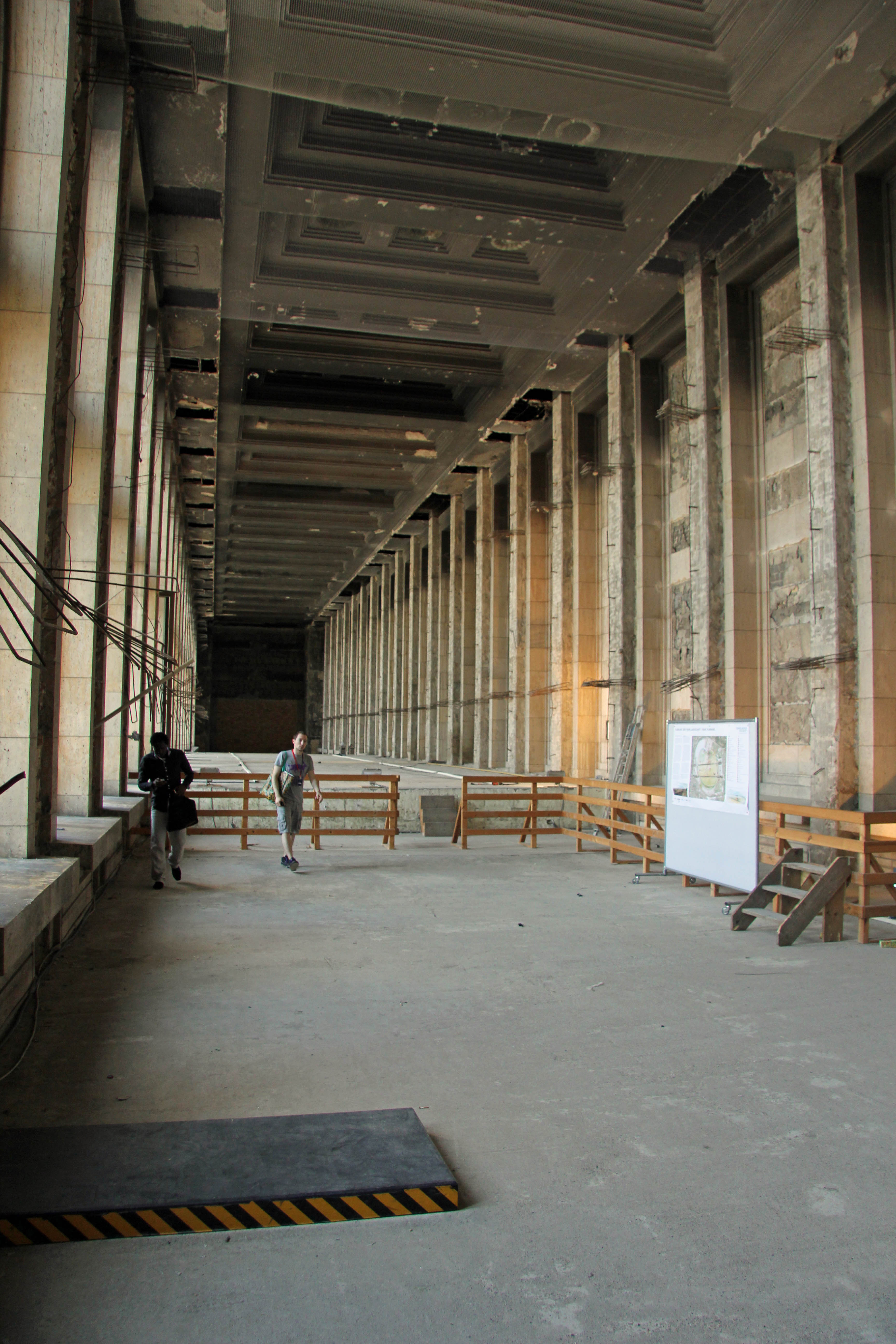The extra ceiling height taken form the Main Hall at Tempelhof Airport in Berlin
