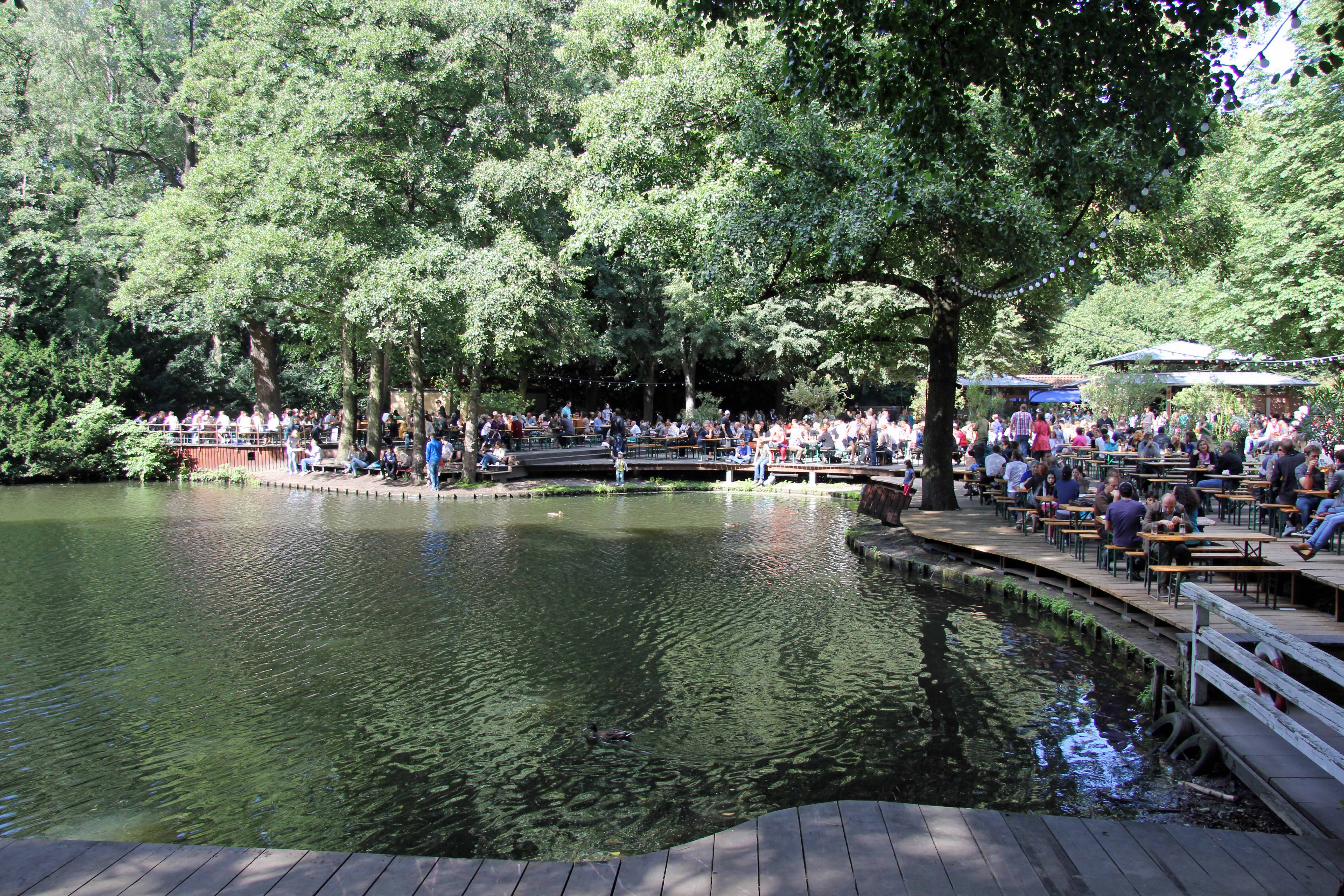The Biergarten at Café am Neuen See in the Tiergarten in Berlin