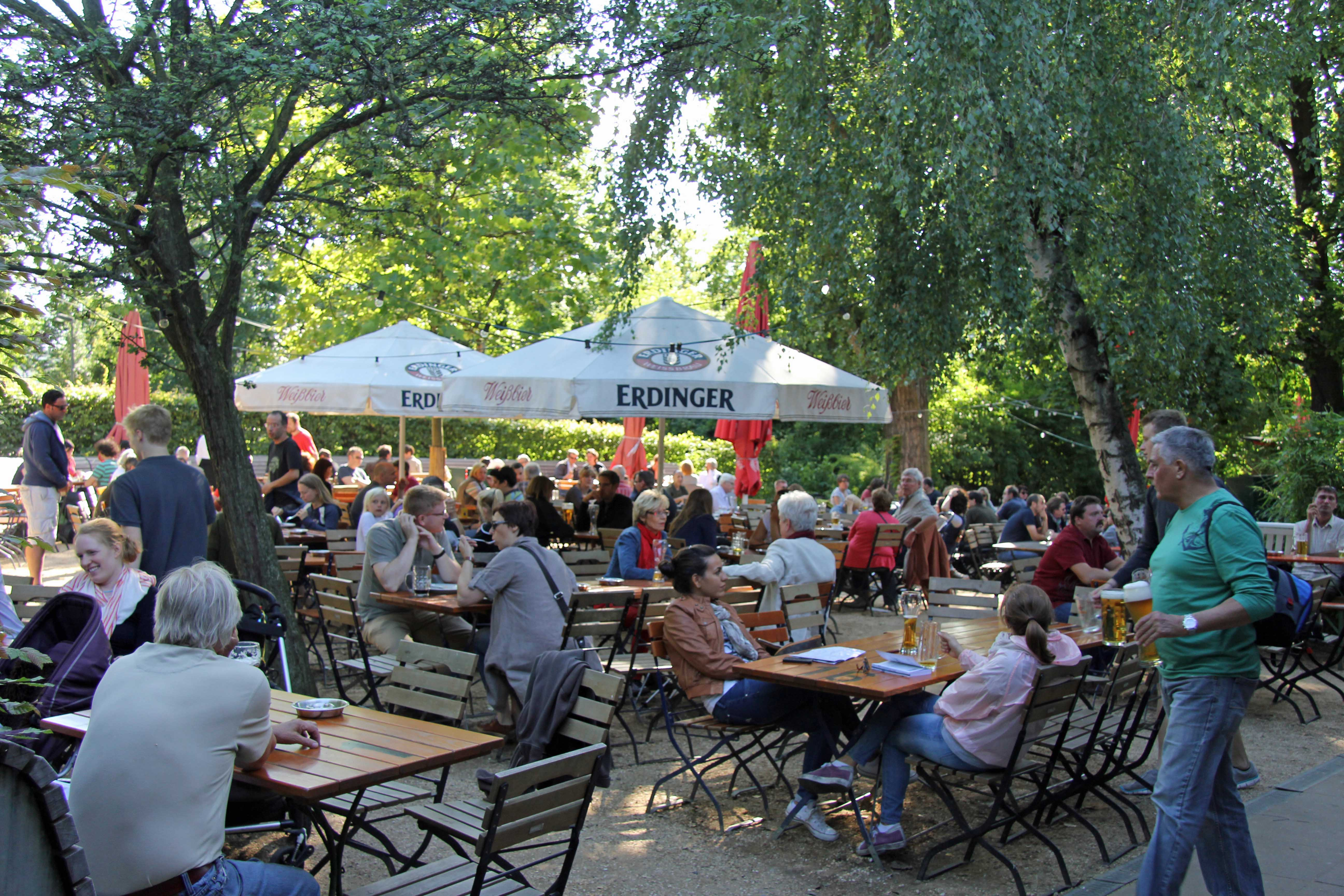 The Biergarten at Schleusenkrug in the Tiergarten in Berlin