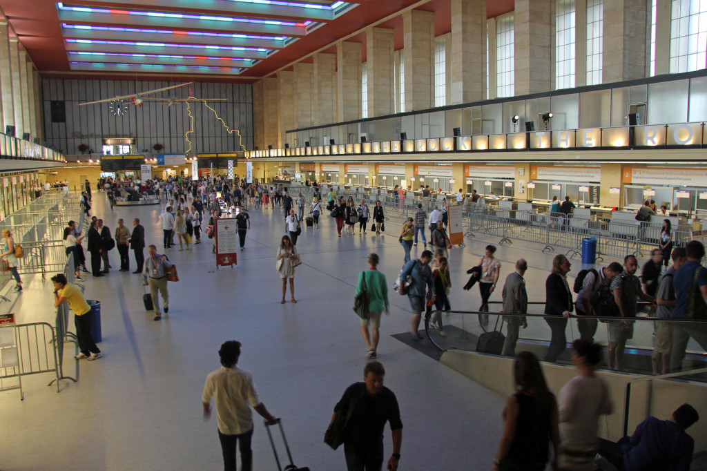 The Main Hall and Check In area at Tempelhof Airport in Berlin during Bread & Butter Summer 2012