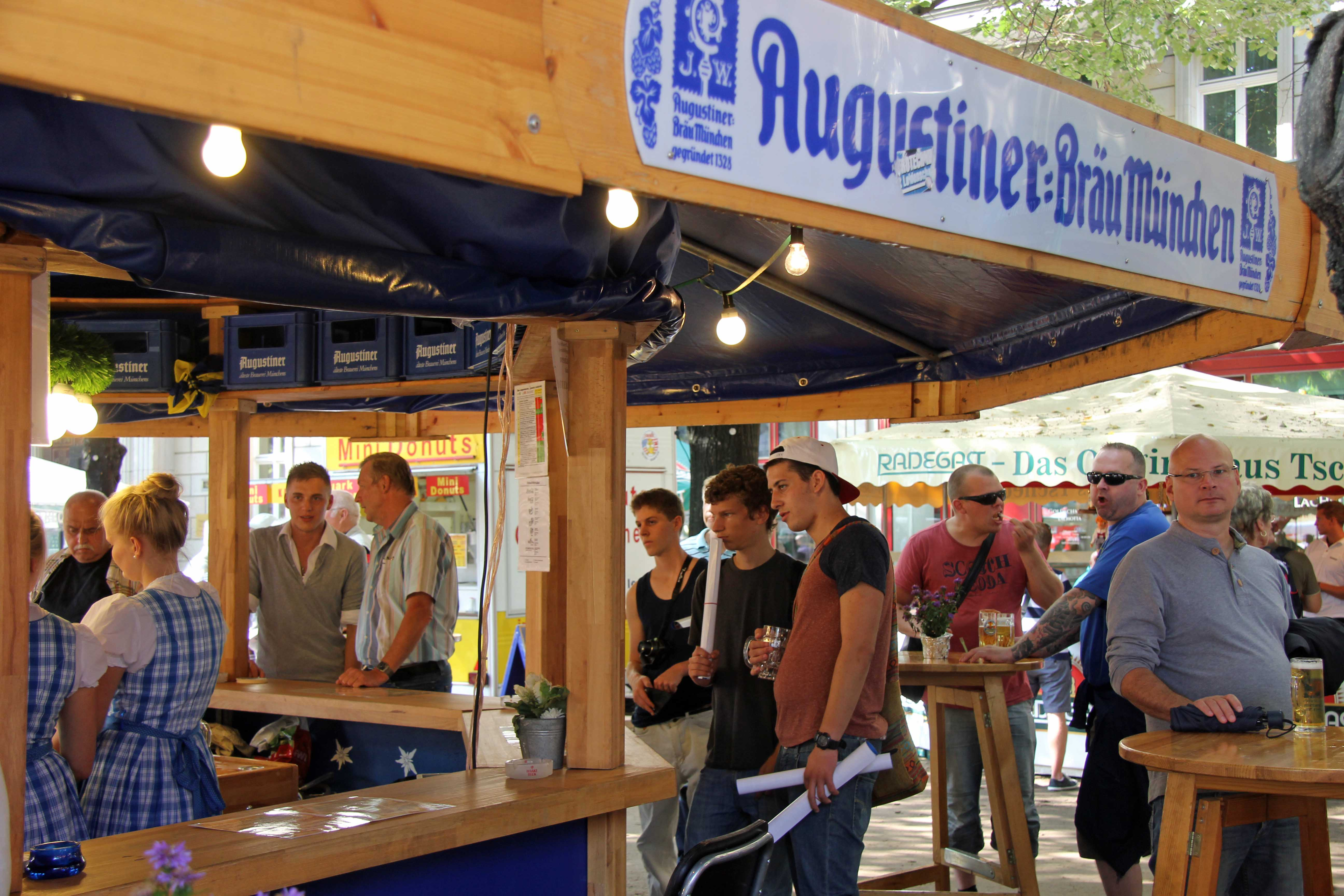 The Augustiner stall at the International Berlin Beer Festival (Internationales Berliner Bierfestival)