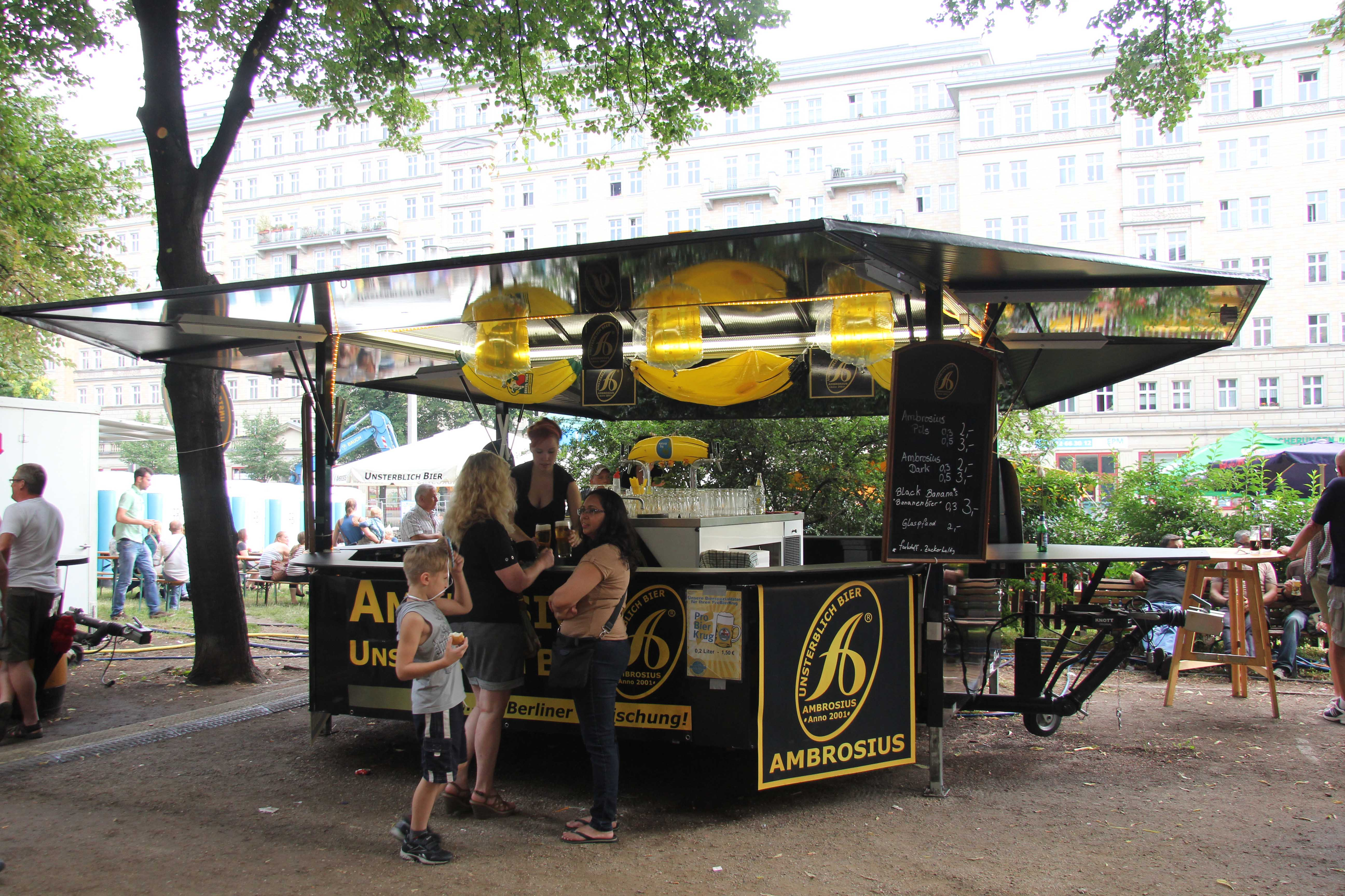A Banana Beer stall at the International Berlin Beer Festival (Internationales Berliner Bierfestival)