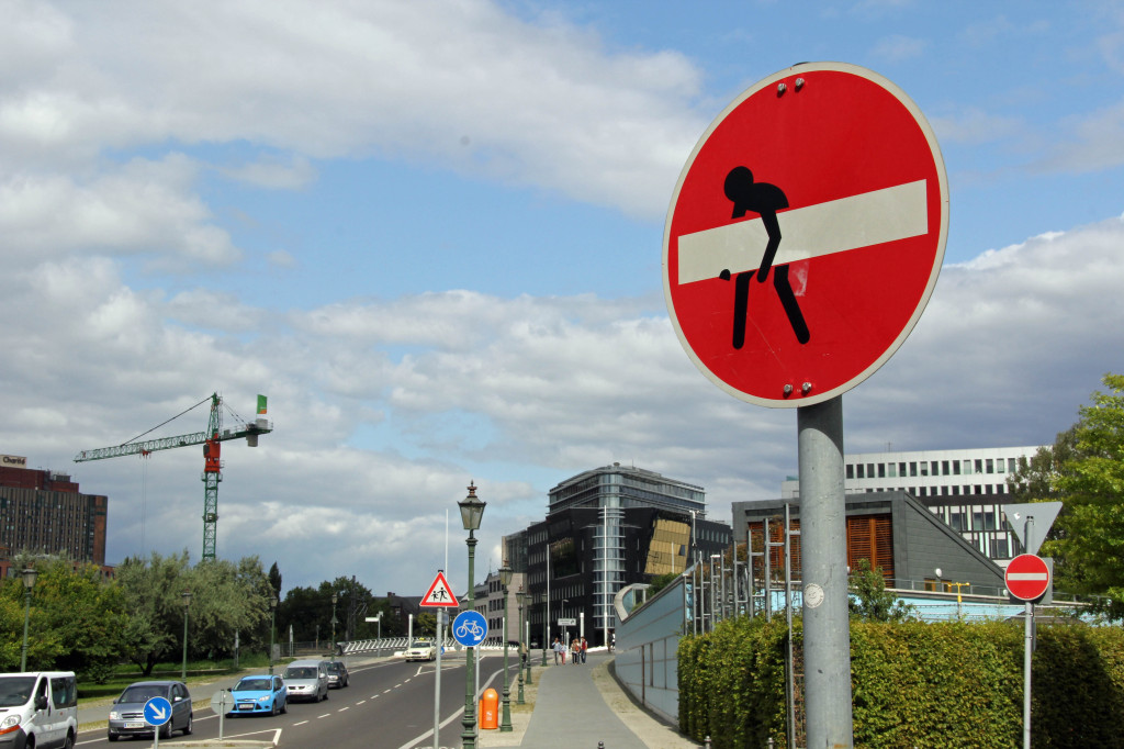 Take Away: A street sign intervention - the clever street (sign) art of CLET in Berlin
