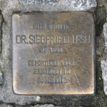 Stolpersteine 120: In memory of Dr Siegfried Lesh (Chausseestrasse 117) in Berlin