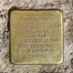 Stolpersteine 122: In memory of Margarete Tebrich (Köpenicker Strasse 73) in Berlin