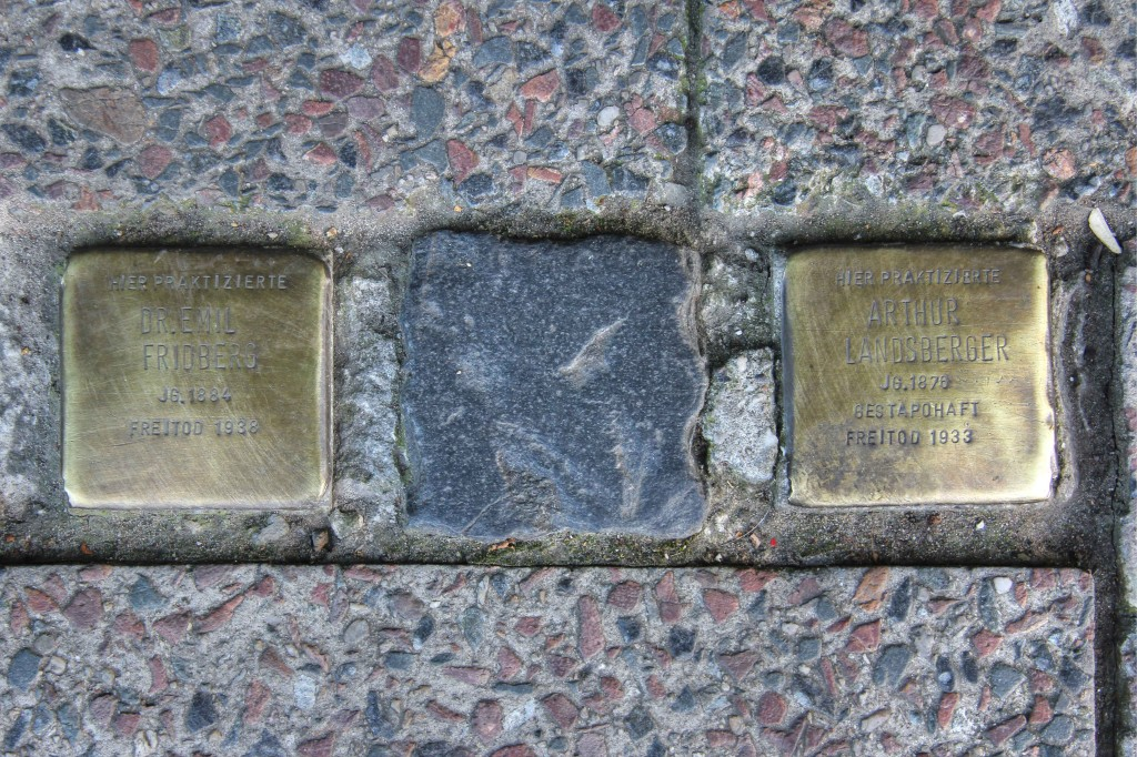 Stolpersteine 123: In memory of Dr Emil Fridberg and Arthur Landsberger (Köpenicker Strasse 106) in Berlin