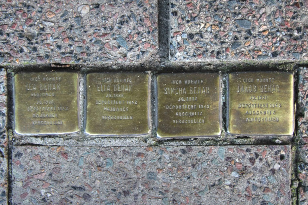 Stolpersteine 124: In memory of Lea Behar, Elia Behar, Simcha Behar and Jakob Behar (Köpenicker Strasse 112) in Berlin