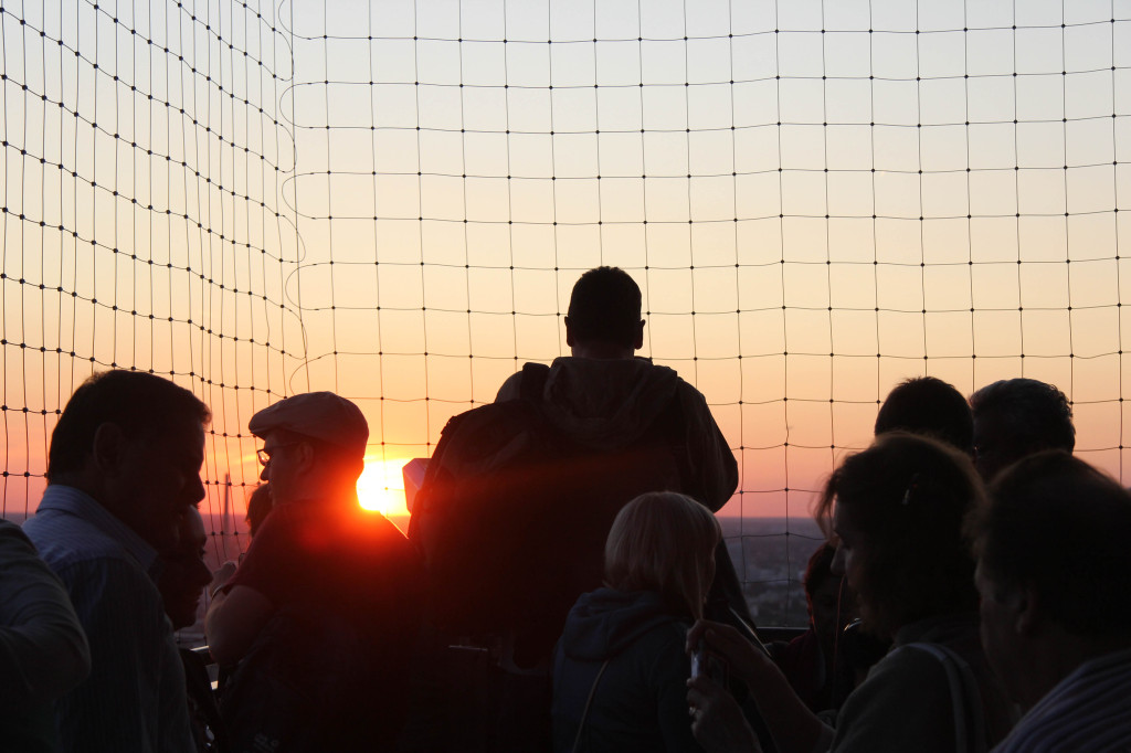Sunset over Berlin: The view from the Sun Terrace of the Park Inn on Alexanderplatz