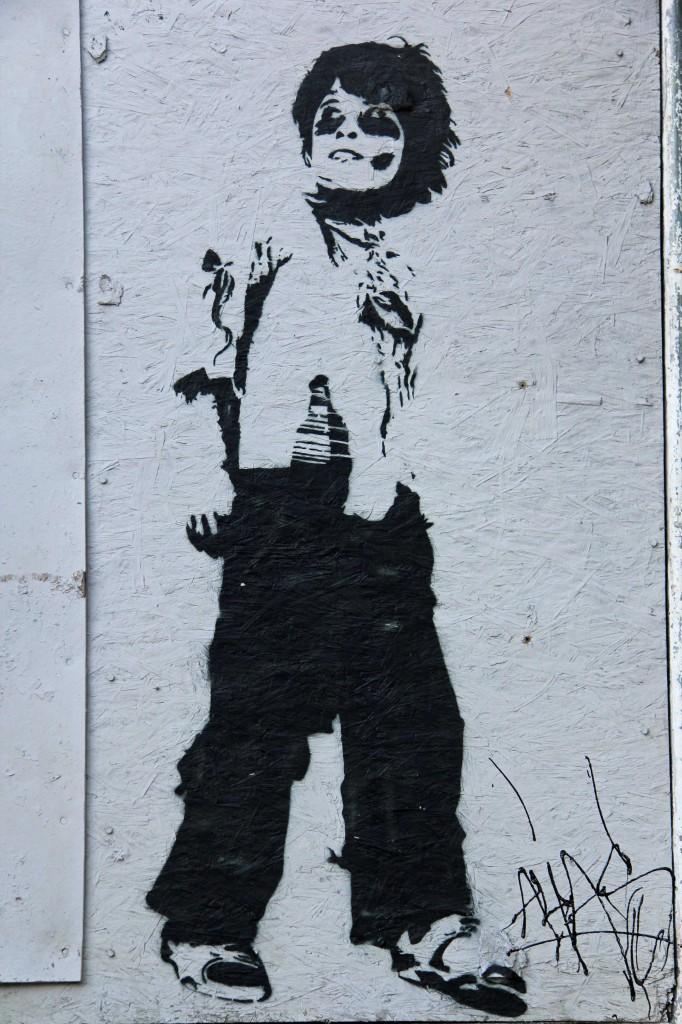 Boy With Grenade - Street Art by ALIAS in Berlin