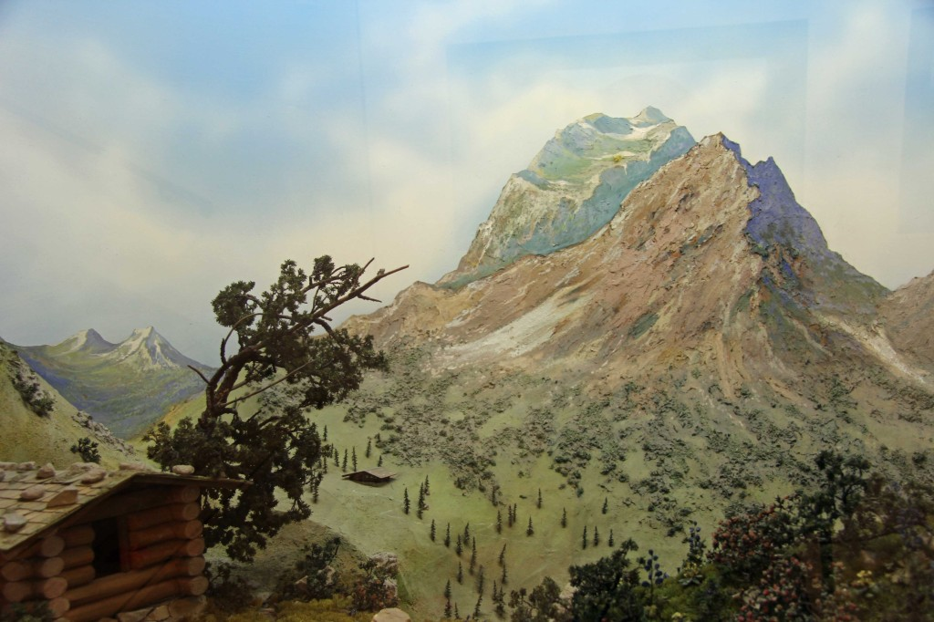 A diorama on display at the Botanical Museum (Botanisches Museum) in Berlin