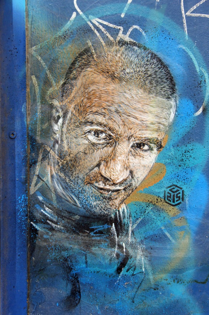 Portrait of a Man - Street Art by C215 in East London