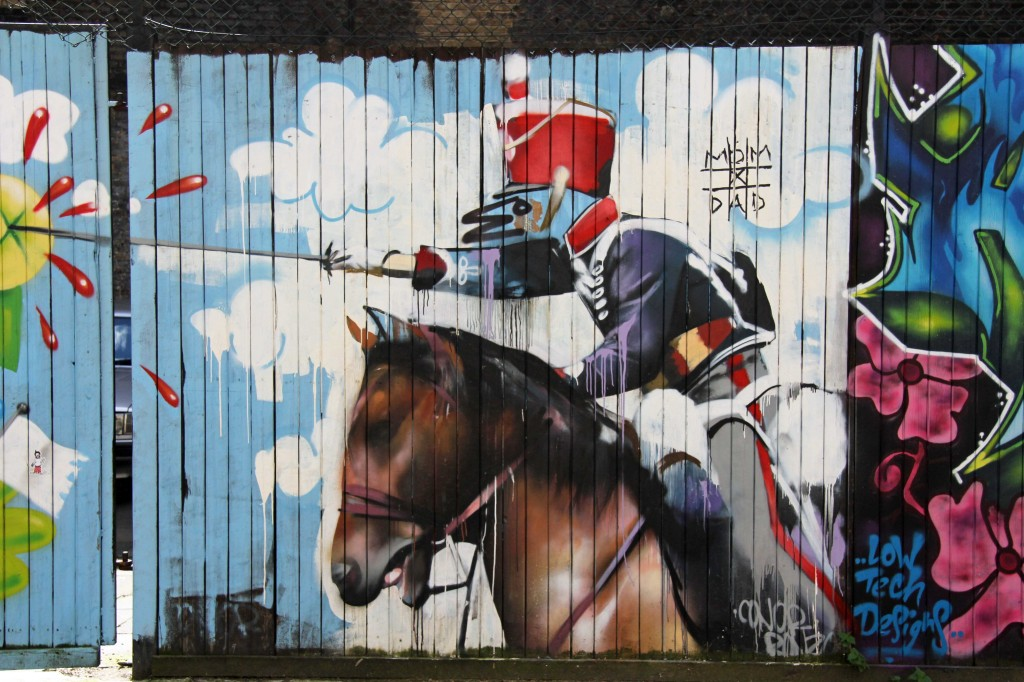 Charging - Street Art by Connor Harrington in East London