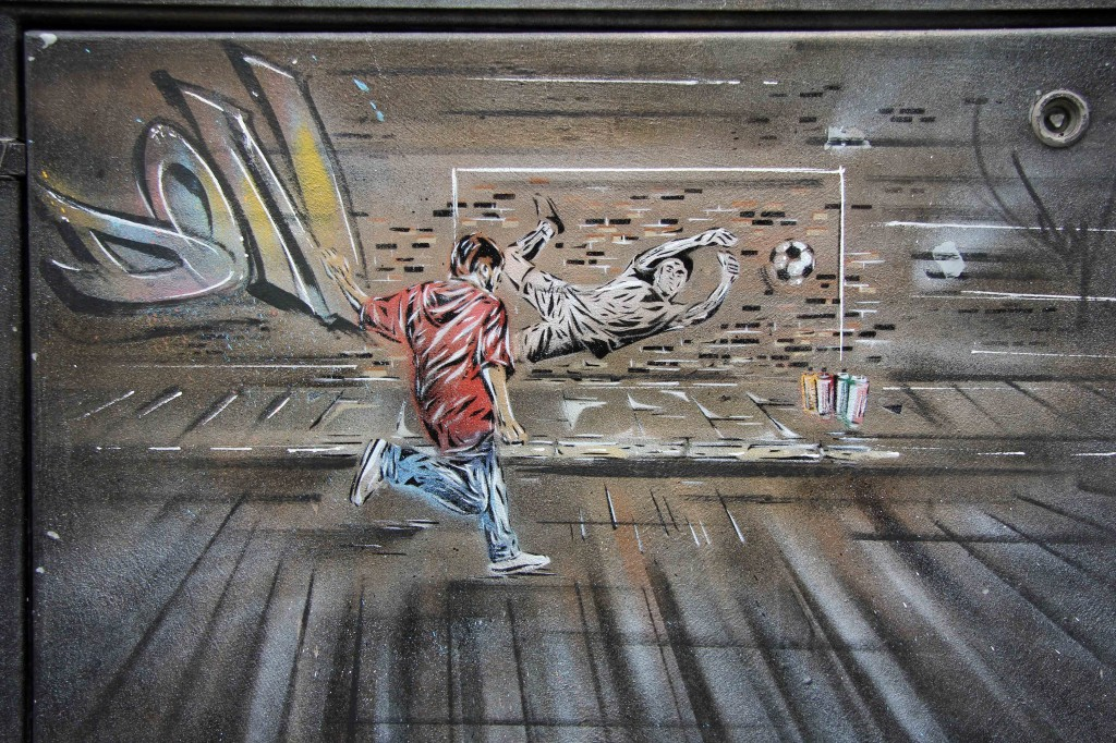 Goal: Street Art by Paul DON Smith in East London