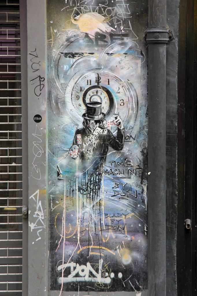 Time Machine: Street Art by Paul DON Smith in East London