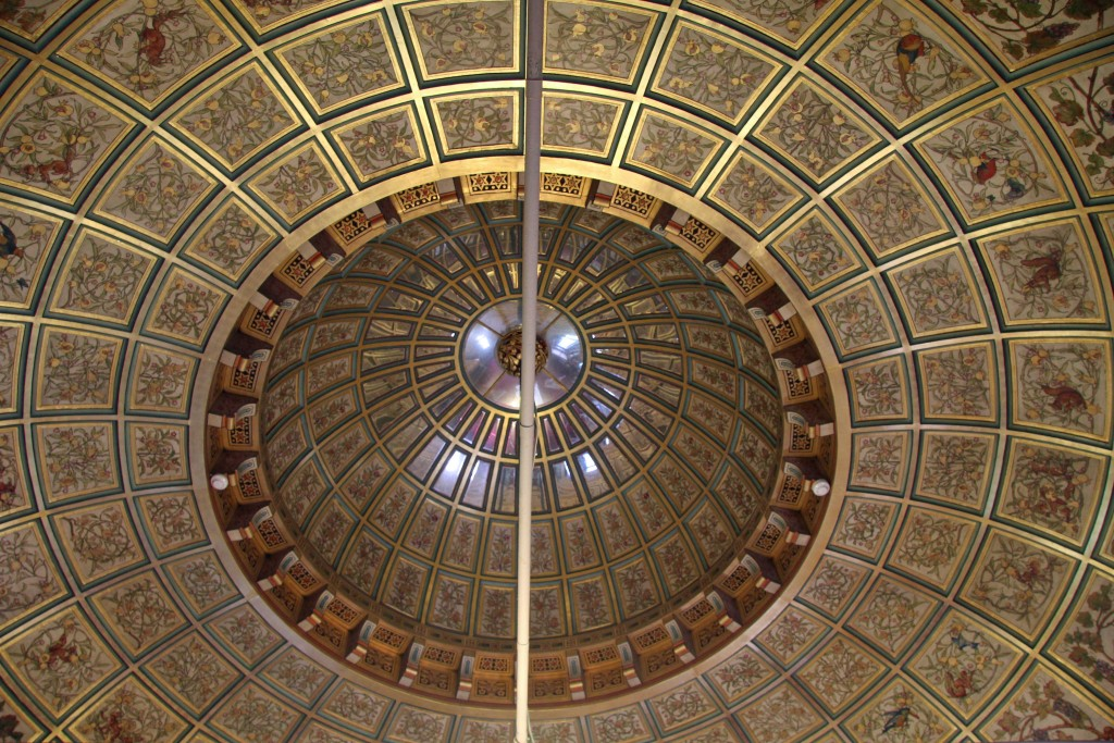 The double-domed ceiling of Lady Bute's bedroom at Castell Coch (Red Castle) near Cardiff
