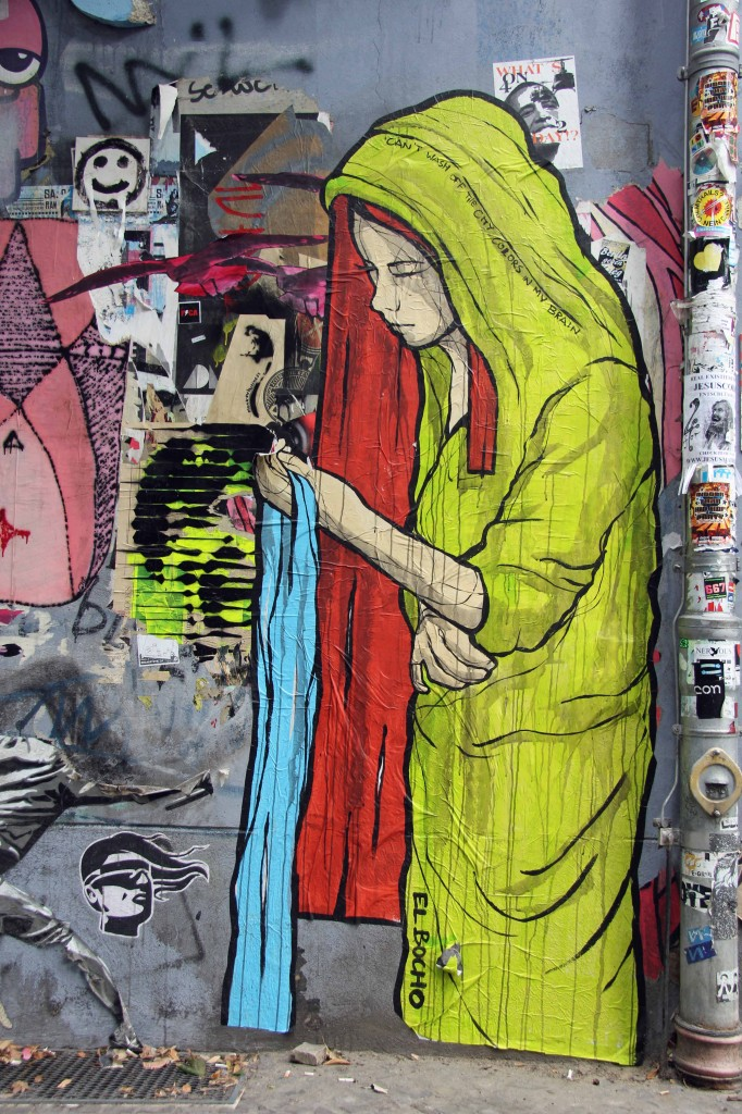 Can't Wash Off The City Colours In My Brain: Street Art by El Bocho in Berlin
