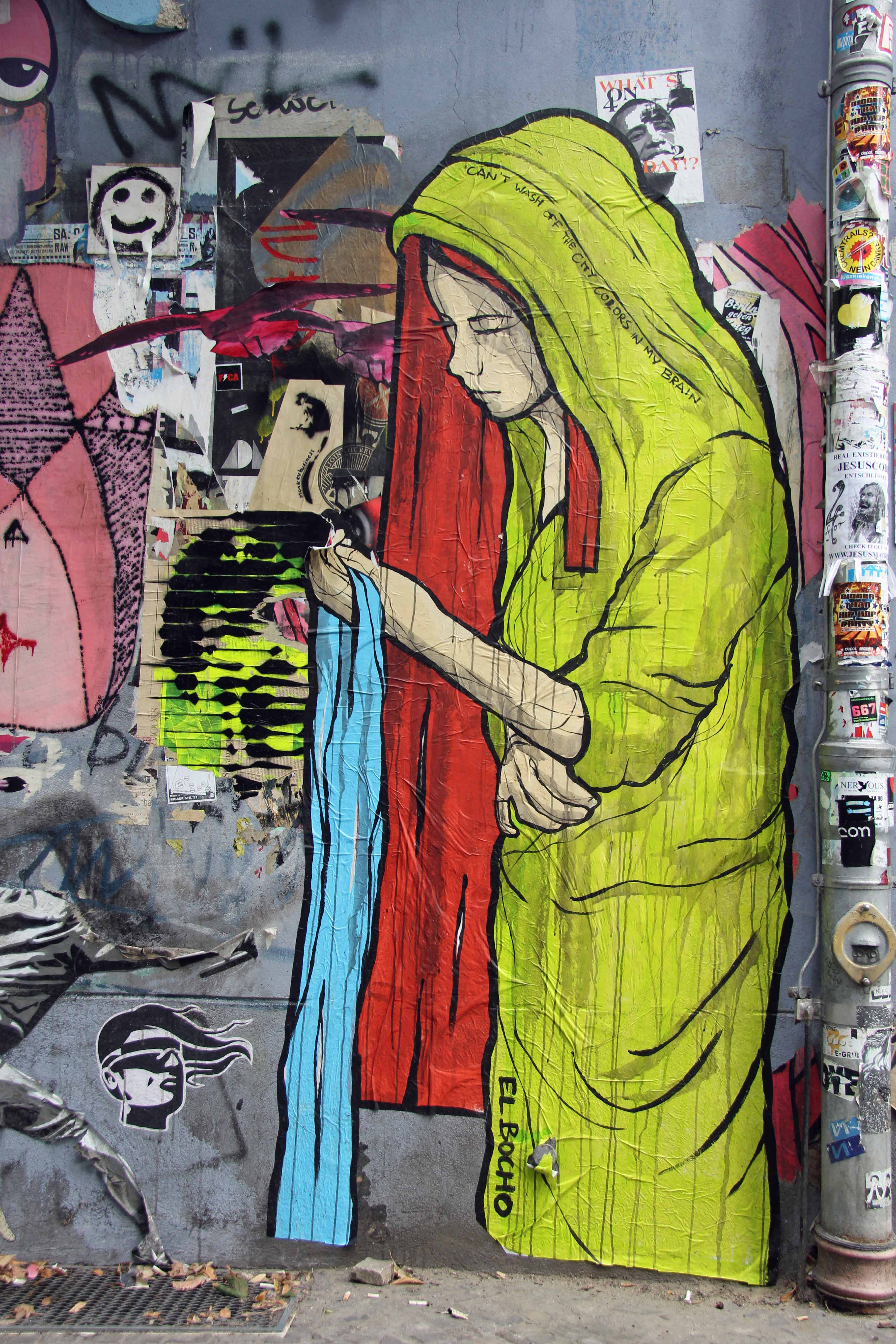 Can't Wash Off The City Colours In My Brain: Street Art by El Bocho in Berlin