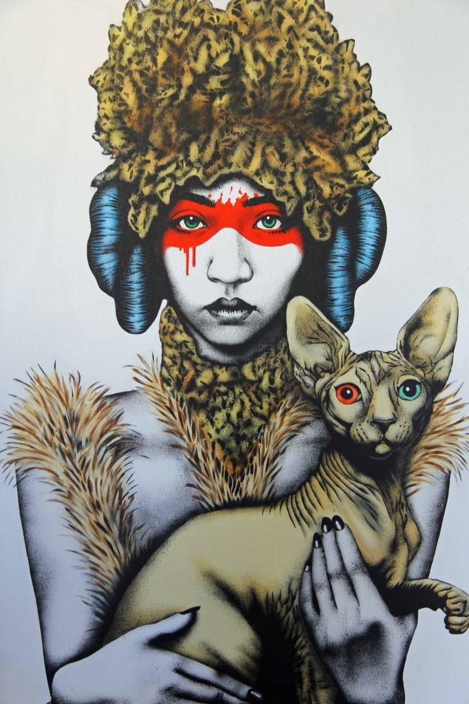 Fin Dac - Canine-Feline at Stroke Urban Art Fair 2012 in Berlin