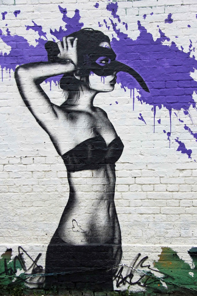 Masquerade: Street Art by Fin DAC at YAAM in Berlin