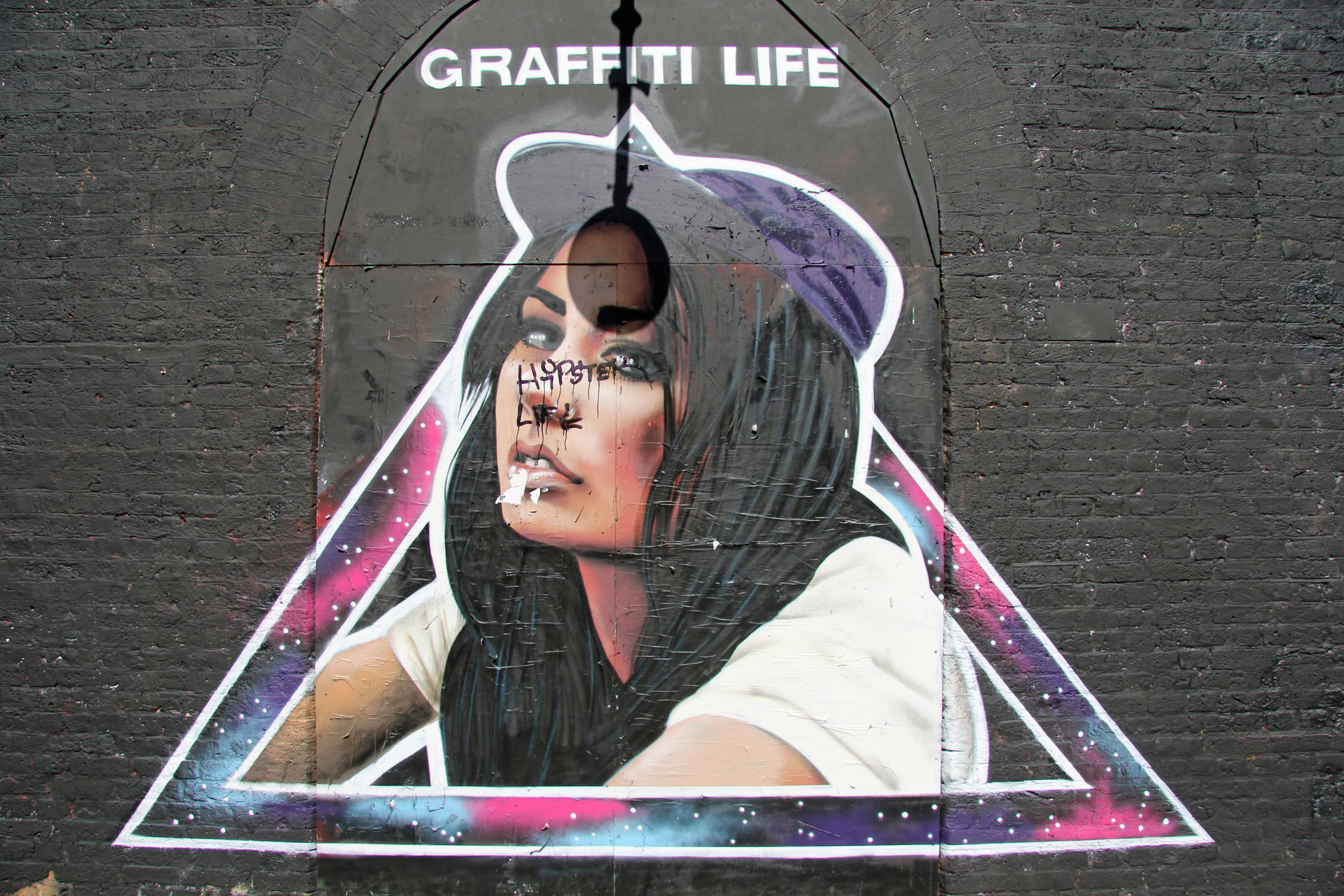 Girl: Street Art by Graffiti Life in London