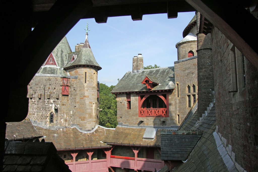 Inner Courtyard from Kitchen Tower at Castell Coch (Red Castle) near Cardiff