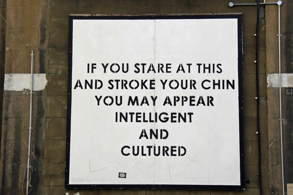 Something Like That: Street Art by Mobstr in East London (If you stare at this and stroke your chin you may appear intelligent and cultured)