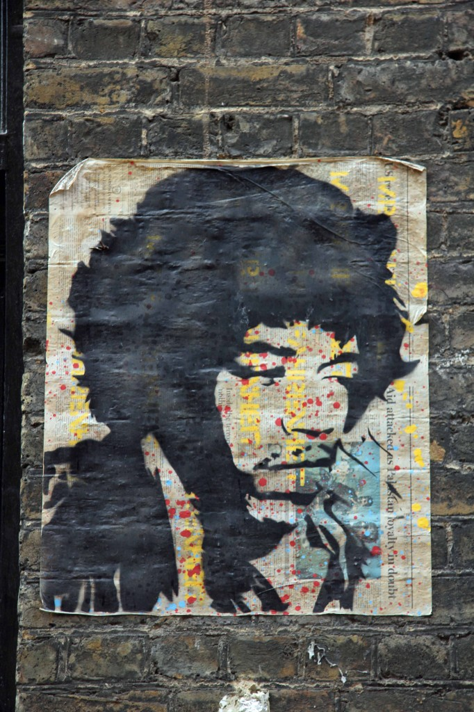 Jimi Hendrix - Street Art by Mr. Fahrenheit in East London