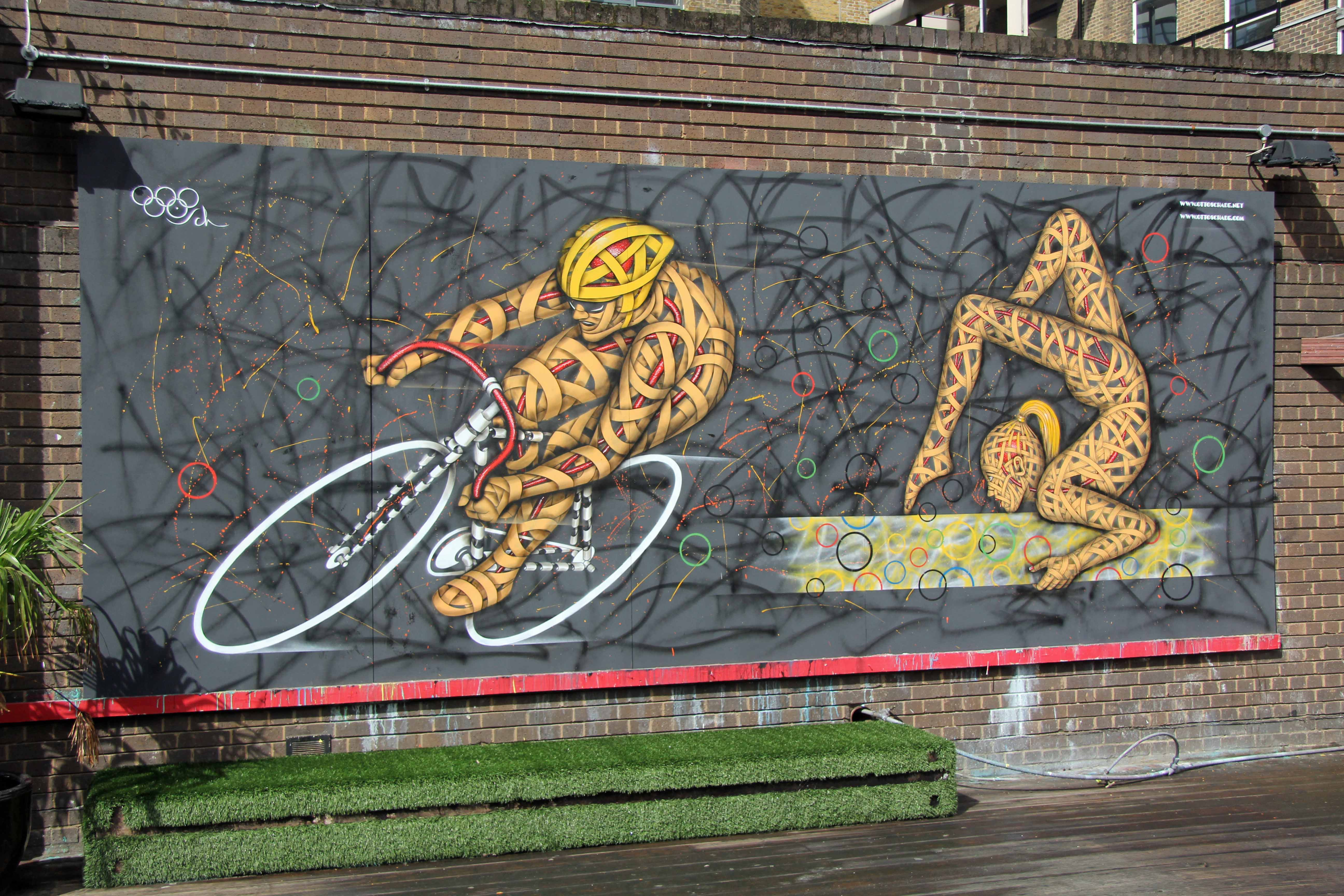 London 2012: Olympic inspired Street Art by Otto Schade in London