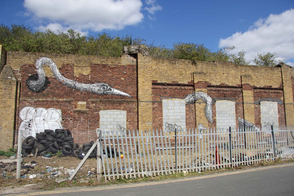 Birds - Street Art by ROA in East London
