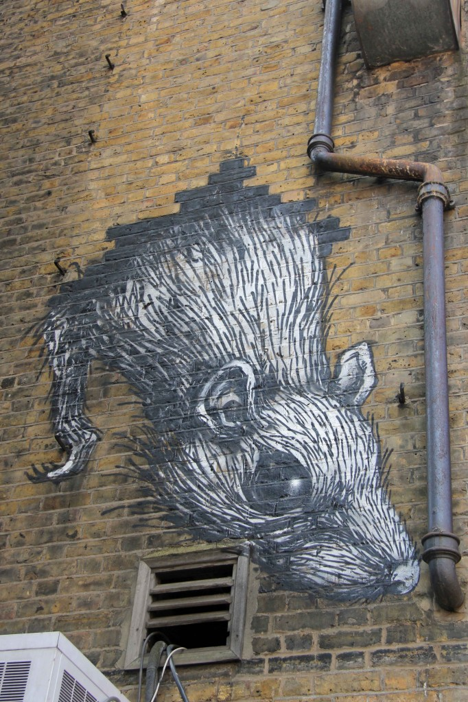 Rat - Street Art by ROA in East London