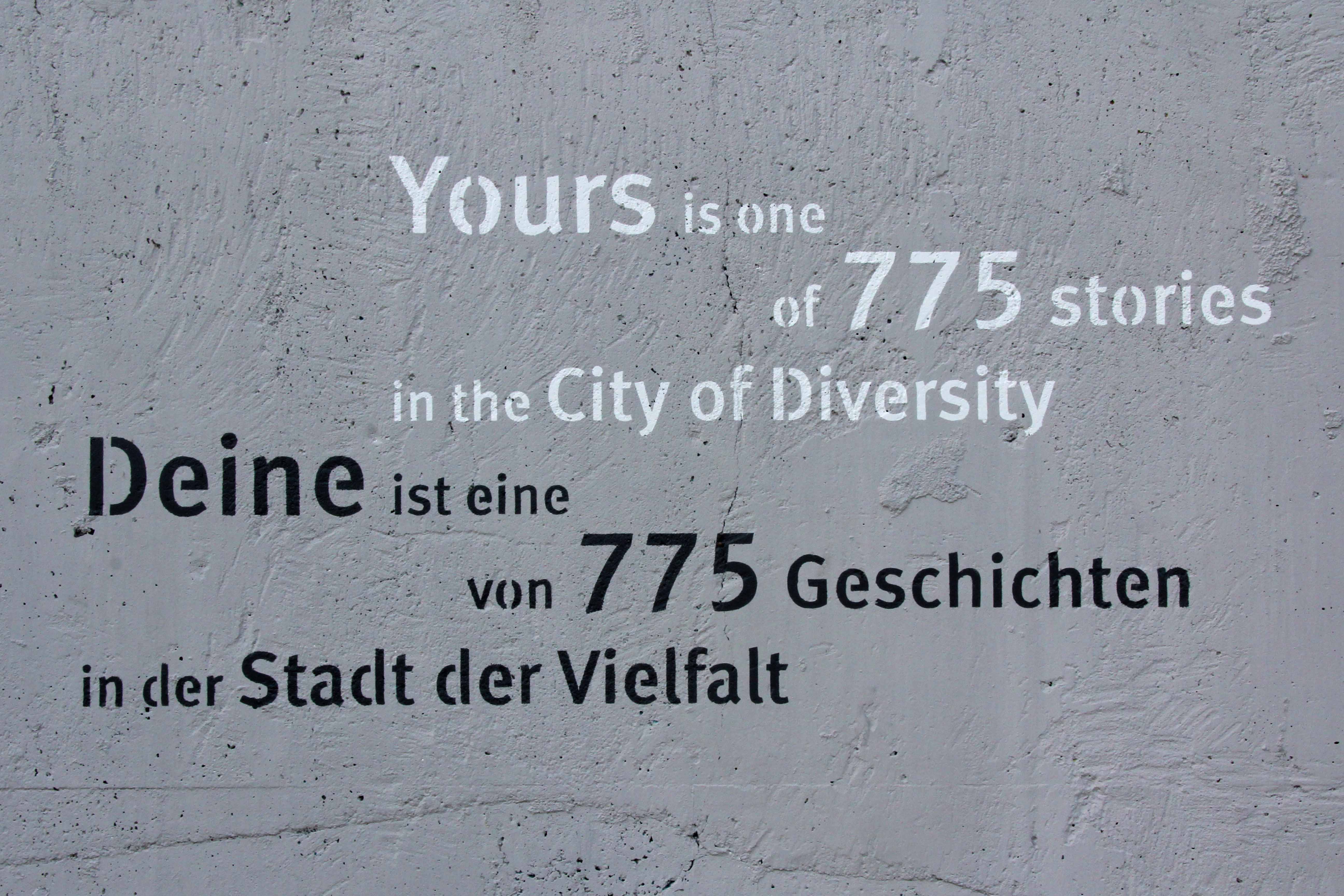 The City of Diversity Exhibit part of Berlin's 775th Anniversary celebrations