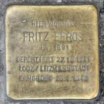 Stolpersteine 126: In memory of Fritz Efros (Danziger Strasse 28) in Berlin