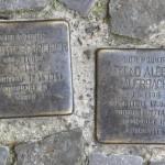 Stolpersteine 127: In memory of Elsbeth Schreiber and Bruno Albert Auerbach (Pappelallee 12-13) in Berlin