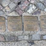 Stolpersteine 128: In memory of Jacob Süssmann, Aron Süssmann, Sonia Süssmann and Sima Süssmann (Strassburger Strasse 60) in Berlin