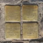 Stolpersteine 129: In memory of Ignatz Lebzelter, Deborah Lebzelter, Susanne Lebzelter and Amalie Lebzelter (Alte Schönhauser Strasse 4) in Berlin