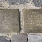 Stolpersteine 130: In memory of Sally Casper and Lene Casper (Chodowieckistrasse 8) in Berlin