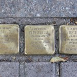 Stolpersteine 131: In memory of Hans Samuel, Else Samuel and Gunter Samuel (Near corner of Utrechter Strasse) in Berlin