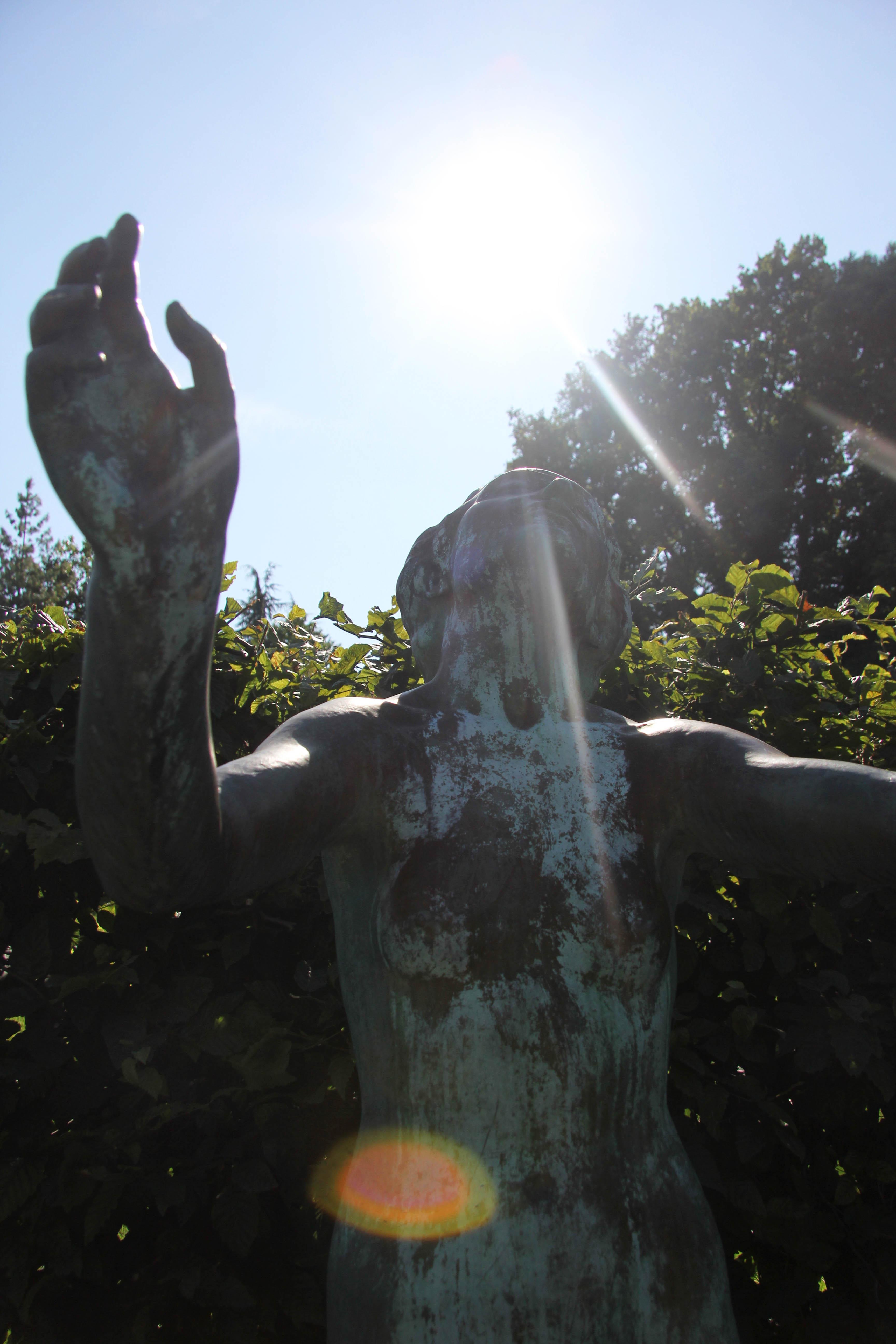 A statue at the Botanical Garden (Botanischer Garten) in Berlin
