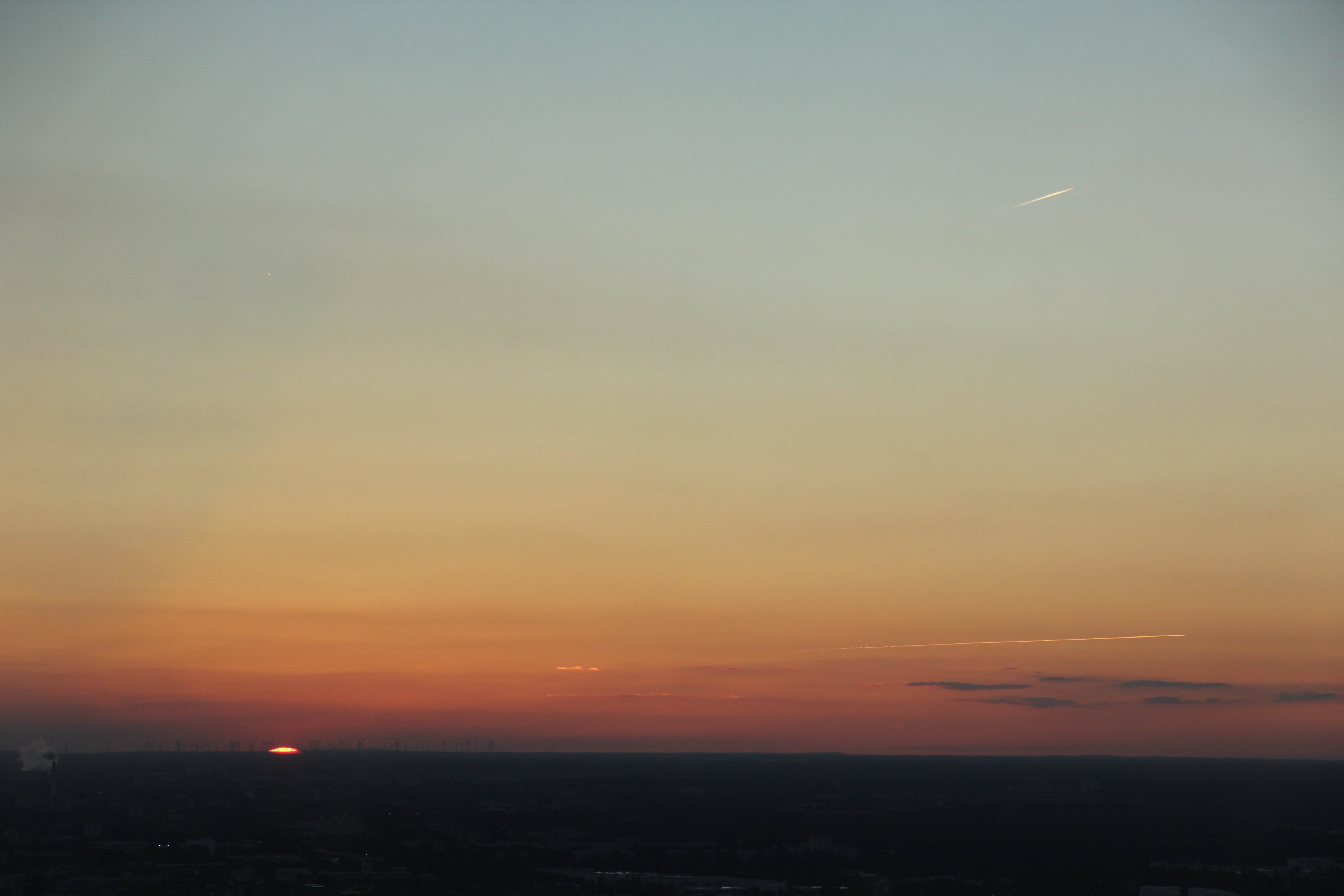 The Sunset over Berlin from the Fernehturm (TV Tower) at Alexanderplatz
