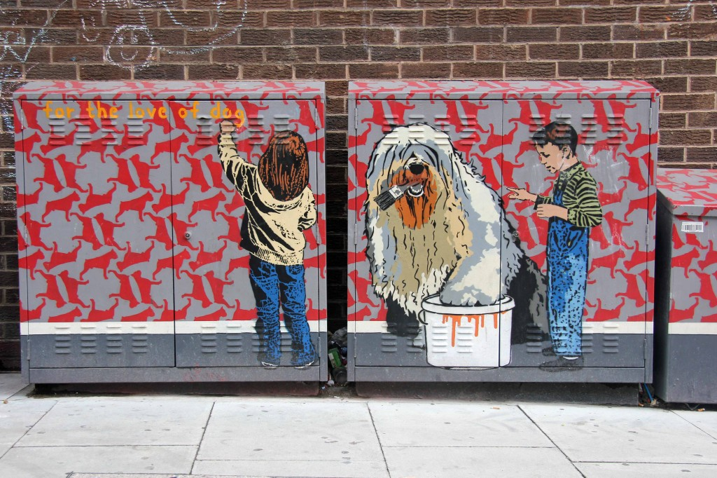For The Love Of Dog: Street Art by Teddy Baden in East London