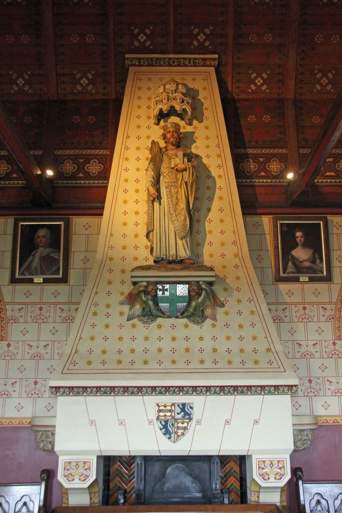 The Banqueting Hall Fireplace at Castell Coch (Red Castle) near Cardiff