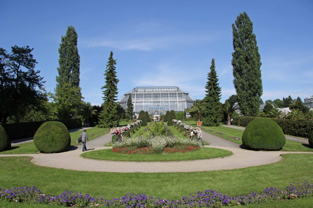 The Italian Garden and Main Greenhouse at the Botanical Garden (Botanischer Garten) in Berlin