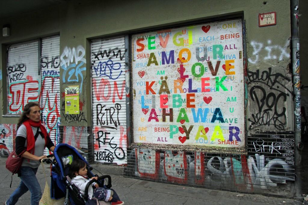The Language of Love: Street Art by Unknown Artist in Berlin