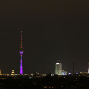 The Berlin Skyline At Night: The view from the Neukölln Arcaden