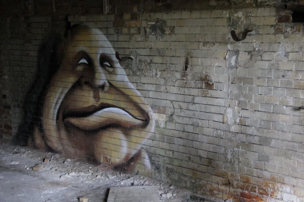 Blinded By The Sun: Street Art by Kim Köster at Papierfabrik Wolfswinkel near Berlin